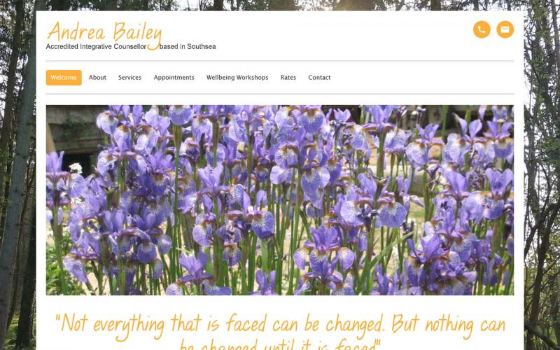 Screenshot of Andrea Bailey Counselling website
