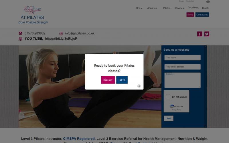 Screenshot of AT Pilates website