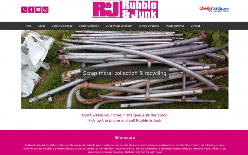 Screenshot of Rubble & Junk website